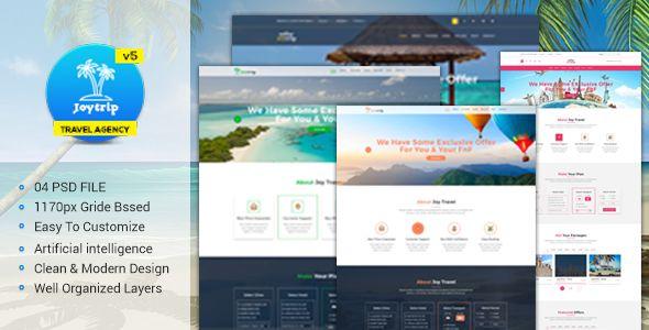JoyTrip - Travel Agency Website Template | Travel Wordpress