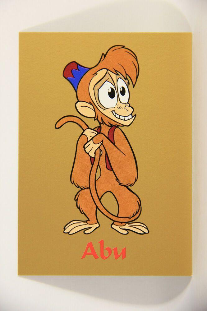 Details About L011621 Aladdin 1993 Trading Card Abu Card 7 Skybox Disney Art Drawings Abu Aladdin Disney Art