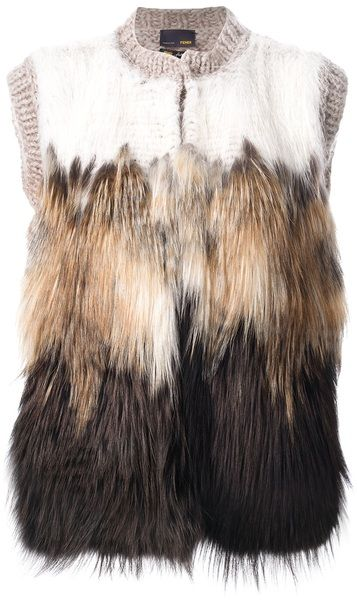 ~FENDI Fur Panel Gilet | The House of Beccaria#