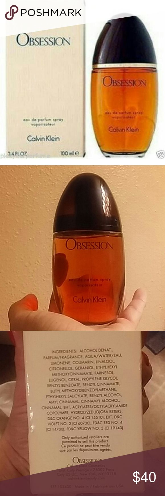 3.5oz🆕🚺Calvin Klein Obsession Perfume New in box from Sephora retail value over $80 this is the womens original Calvin Klein Obsession perfume size 3.5 ounce glass bottle. This is new inbox , never used. Calvin Klein Other
