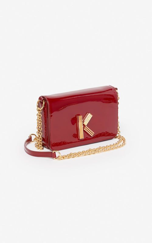 43ea1bca VERMILLION K-Bag Chainy patent bag 'Exclusive Capsule' for unisex KENZO