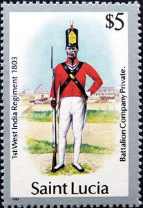 Battalion Co. Private, 1st West India Reg. 1803