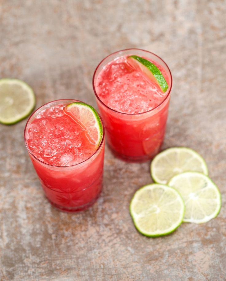 Cocktail à la pastèque-gin-Grand Marnier et citron vert - Et si c'était bon...