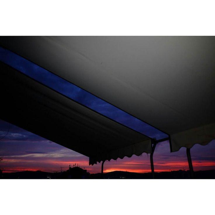 Untitled #skantzman #heraklion #crete #sunset #sky #colour #velvia #28mm #fujixe2s #fuji #xe2s #balcony #city #athens #greece #manolisskantzakis #photography