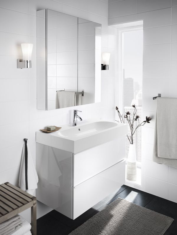It's easier than you think to create the bathroom of your dreams! IKEA GODMORGON bathroom cabinets give you plenty of options to store everything you need, no matter the size of your bathroom.