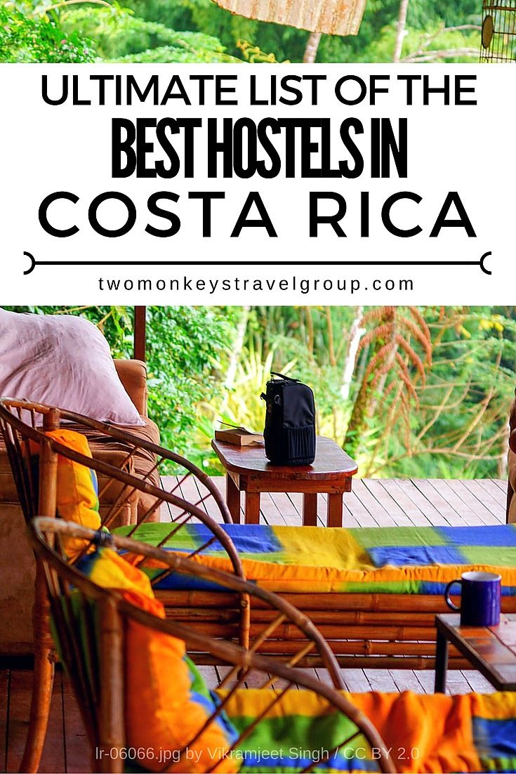If you want to see a lot of places in Costa Rica, the best way to do it is by staying at hostels. They can be very unique and you can meet people from all over the world. Sometimes they can be as cheap as $5 per night.