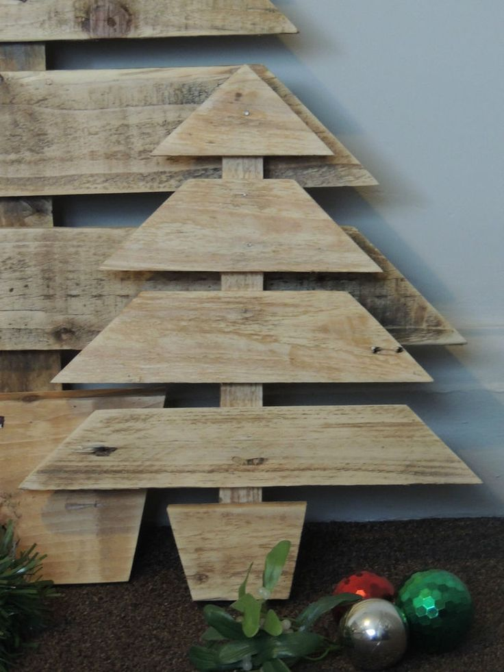 Reclaimed Timber Christmas Tree   Noel   Small   - Natural, decoration, wood