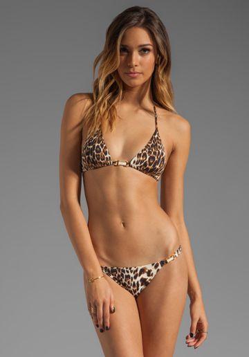 4c79d1373a36 VIX SWIMWEAR Congo Tri Detail Bikini Top in Animal Print | A WALK ON THE  WILD SIDE | Bikinis, Swimwear, Fashion
