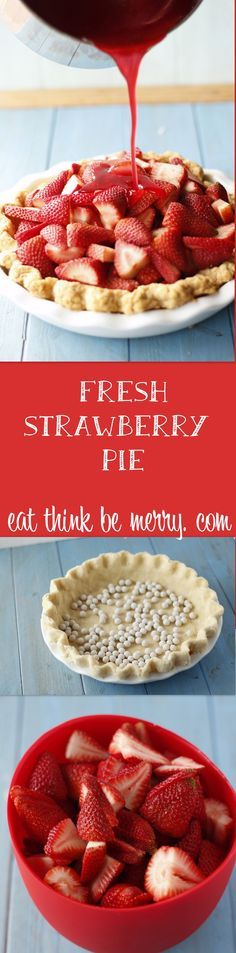 Fresh Strawberry Pie celebrates the delicious and refreshing taste of fresh strawberries. And it's SO easy! For Pi Day 2016