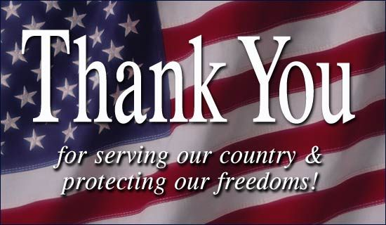 To all our service men and women past and present...Thank You For Your Service and Sacrifice, GOD BLESS EACH OF YOU!