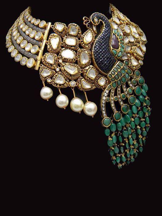 By Bespoke Vintage Jewels by Shweta and Nitesh Gupta. Bridelan - Personal shopper,stylist & luxury consultants for Indian/NRI weddings, website www.bridelan.com #polki #polkinecklace #weddingnecklace #jadaunecklace #bridalnecklace #uncutdiamondspolkinecklace #diamondpolkijewellery #traditionalindianjewellery #polkibridalset #oversizeduncutdiamonds #bridelan #bridelanIndia #personalshopperindia #jewelleryshoppingindia #polkiweddingjewellery