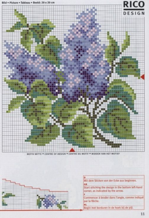 Cross-stitch Purple Flowers Corner section & Border, part 2... Gallery.ru / Фото #26 - rico3 - vira-pagut