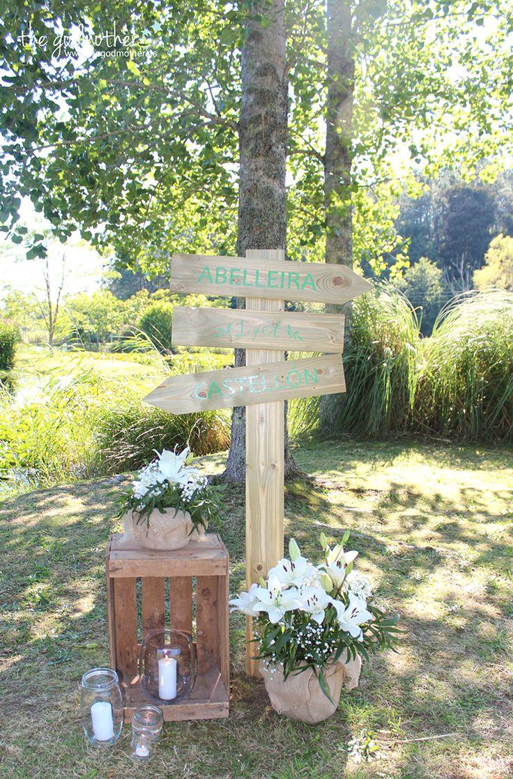 11 decoración boda ceremonia civil- decoración ceremonia civil - decoración boda rustica - decoración rustic chic - decoración flechas de madera