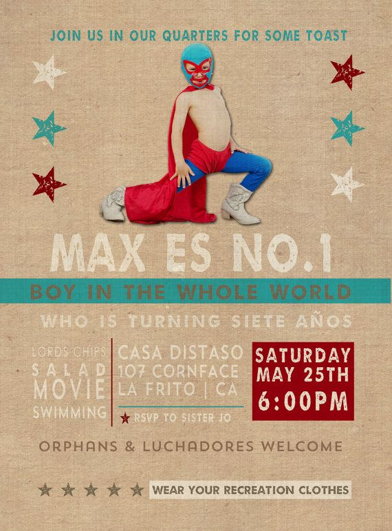 Nacho Libre Birthday Party Invitation by SassyInkStudio on Etsy, $20.00