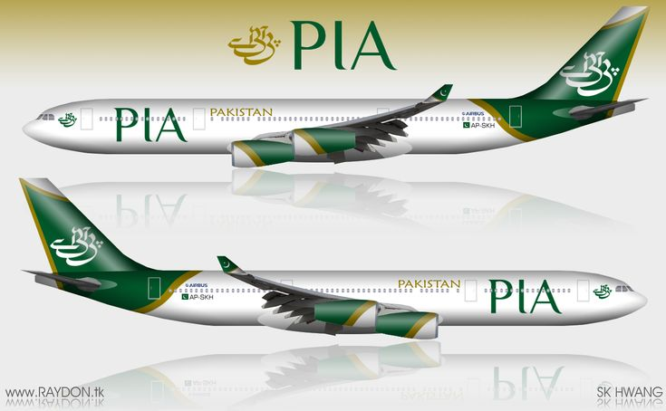 Pakistan International Airlines - PIA Airbus A340-300 Combo Aviation Design - Modified Airliner Photos