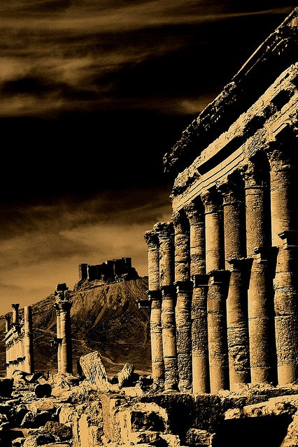 Sheer beauty, if you could immerse yourself during that time period!!...    ✮ Palmyra site, Syria