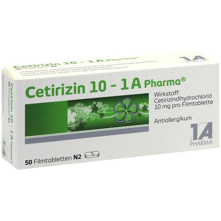 CETIRIZIN 10 1A Pharma Filmtabletten bei Allergie:   Packungsinhalt: 50 St Filmtabletten PZN: 03823630 Hersteller: 1 A Pharma GmbH Preis:…
