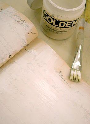 Preparing a book for art journaling