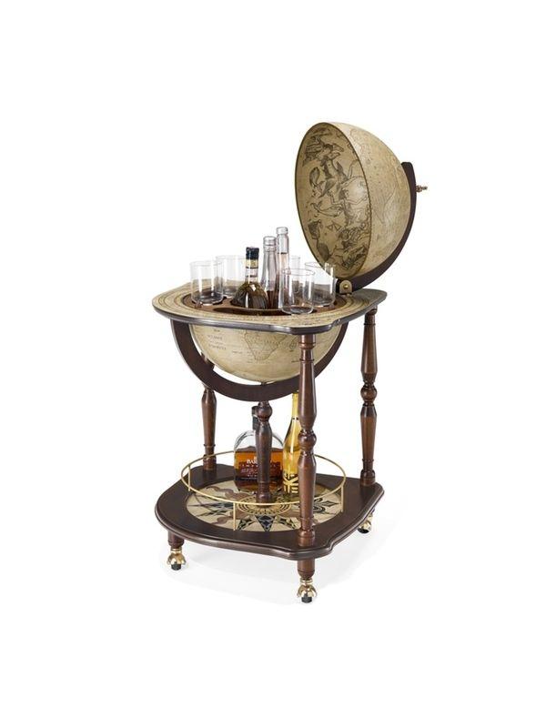 Globe Drinks Cabinet Antiqua