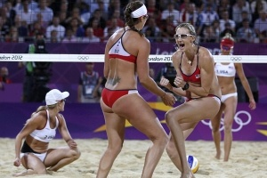 Can you say Three-pete!! Go Team USA! Misty May-Treanor and Kerri Walsh-Jennings three time gold medalists!!