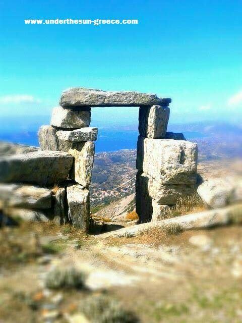 The Neolithic gateway above the village of Styra on the Greek island of Evia.