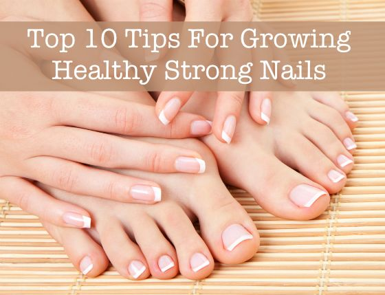 Top 10 Tips for Growing Healthy Strong Nails - Tired of dealing with dry, splitting, breaking nails? If you want beautiful, long nails that are resistant to breaking and splitting, you need to focus on getting your nails healthy. From nutrient-rich supplements (to boost your nail health from the inside-out) to proper nail care techniques and the best nail products, featured in this beauty guide are the top 10 tips for growing healthy strong nails. #nails #manicure #pedicure