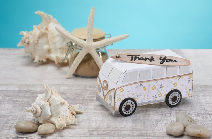 Classic campervan free template from Papercraft Inspirations magazine, issue 166 - Papercraft Inspirations