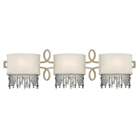 Vanity Light Bar Crystal : Lucille 3 bulb vanity light Cascading crystal accents and an openwork back lend a touch of ...