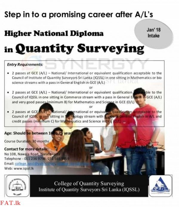 College Of Quantity Surveying Iqssl Surveying Bio Sciences