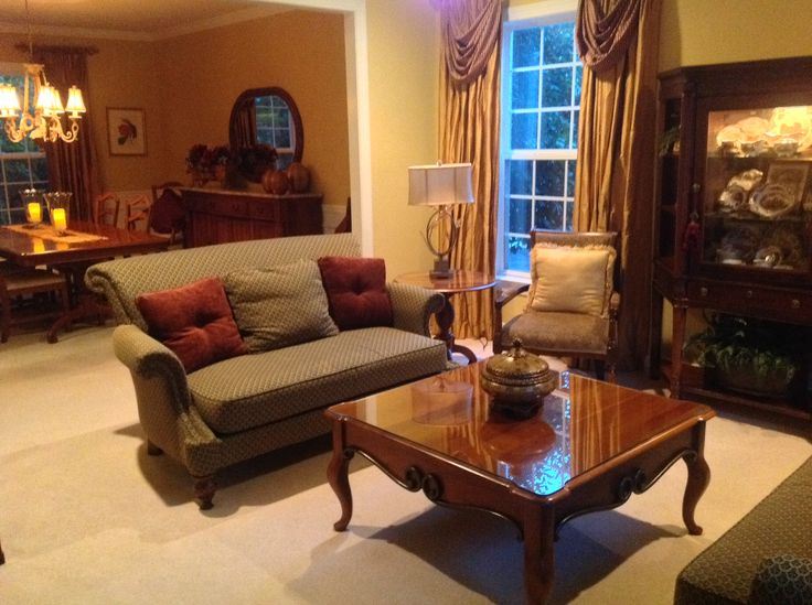 Living and dining rooms paint benjamin moore chestertown buff home making pinterest - Living room dining room paint colors ...