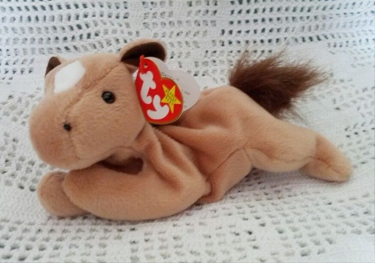 Ty Original Beanie Babies Retired Derby the Brown Horse Animal 9/16/1995 MWMT 3+ #Ty
