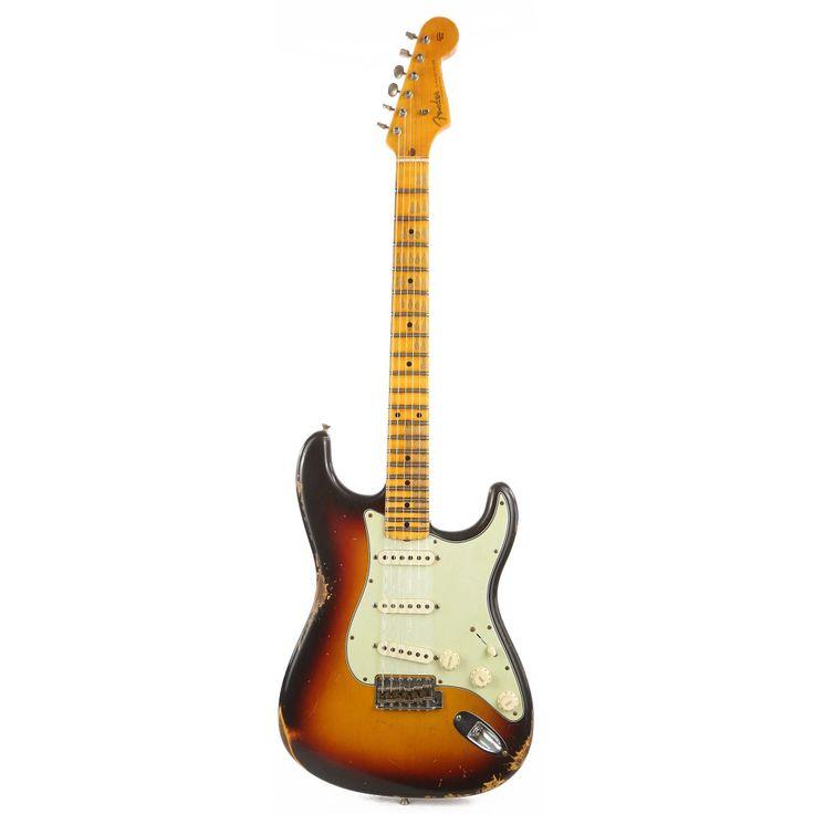 Fender Custom Shop Noneck 1960 Stratocaster Music Zoo Exclusive Heavy Relic 3 Tone Sunburst R105604 In 2021 Fender Custom Shop Sunburst Relic