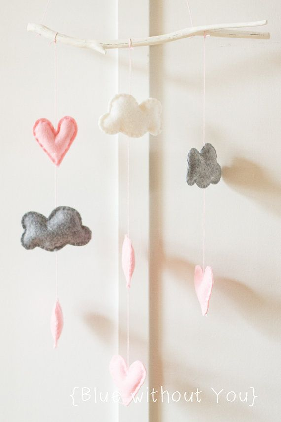 Handmade felt baby mobiles at Blue Without You on Etsy