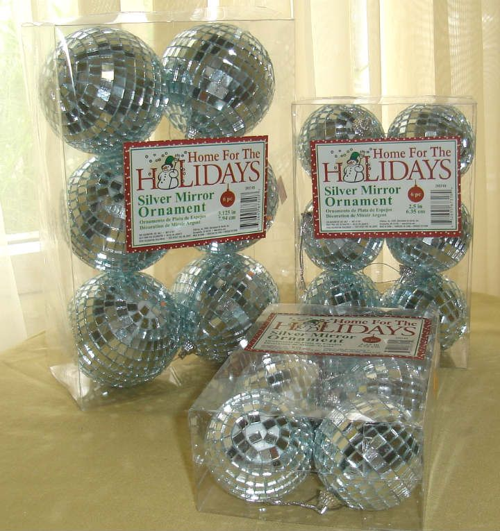 6 Pack Silver Mirror Disco Balls, Discount Decorative Accents - Wholesale Flowers and Supplies