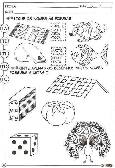 ESPAÇO EDUCAR: 30 ATIVIDADES DE ALFABETIZAÇÃO COM A LETRA T PARA ...