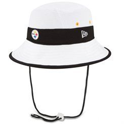 Pittsburgh Steelers New Era On Field Training Camp Bucket Hat - White