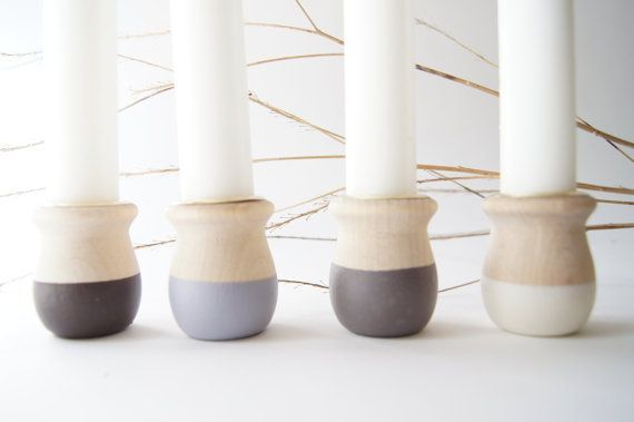 Wooden Candle Cups Warm Colors romantic decor by WindandWillowHome, $16.00