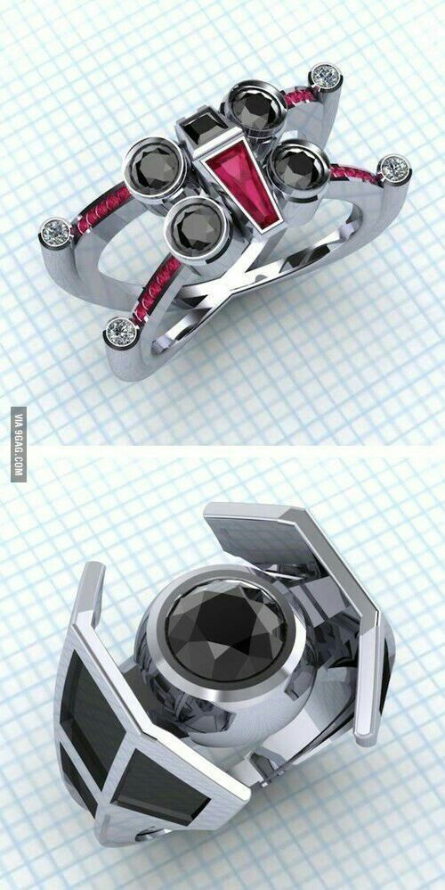 For star wars fans wedding rings