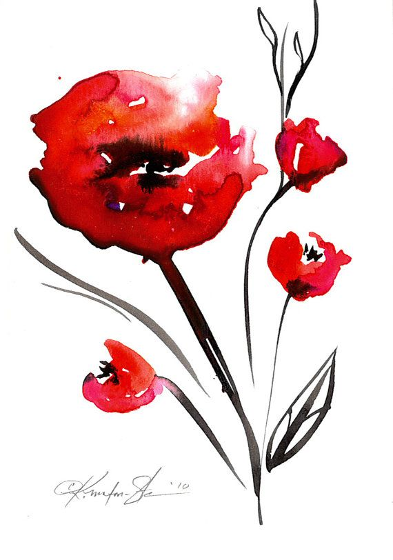 23 best images about watercolor on pinterest for Abstract watercolour flowers