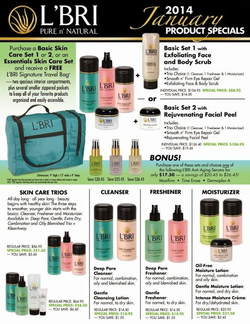 L Bri Pure N Natural Basic Skin Care Set