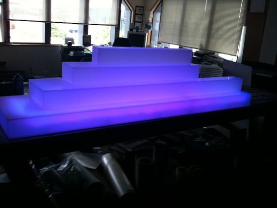 LED Lit Acrylic Bar Display for Drinks Bottles
