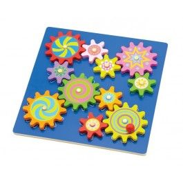 Puzzel met roterende tandwielen, New Classic Toys
