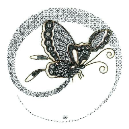 Blackwork Butterfly Embroidery Kit - a Hand Embroidery Design as an Alternative to Cross-stitch.