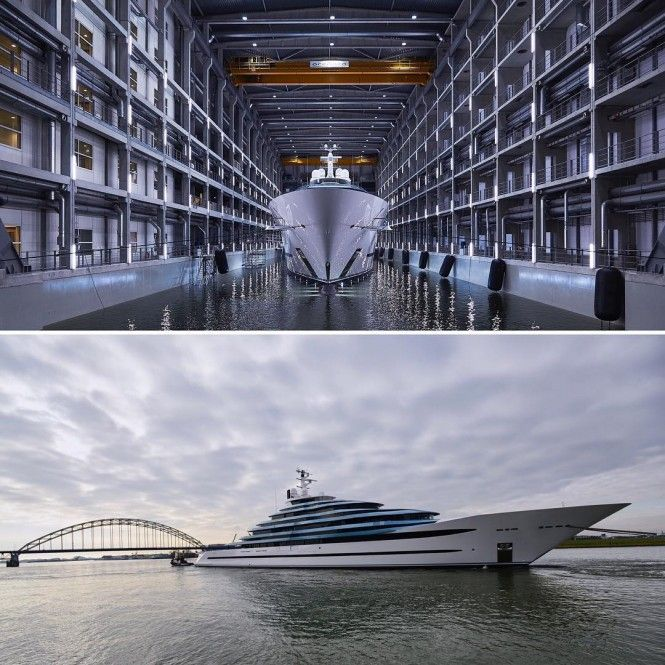 Look at Video of Oceanco's huge new Jubilee yacht from the Air!
