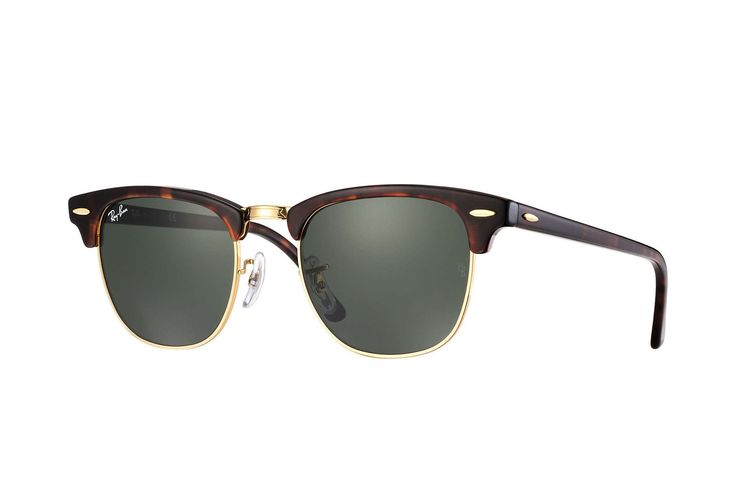 RayBan CLUBMASTER Tortoise Green Classic RB3016 W0366