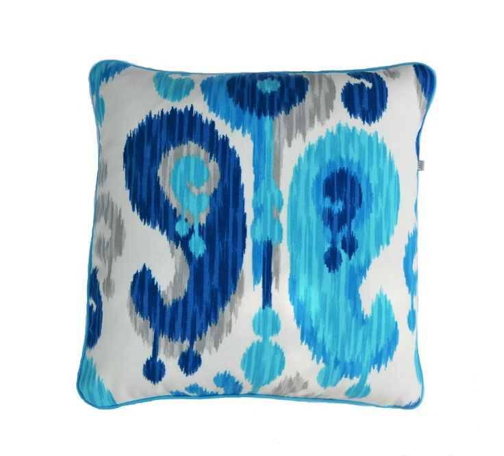 Ikat Sea Ice - Out Door cushion / pillow cover available on ETSY.com - in my shop -  Julie Alves Designs