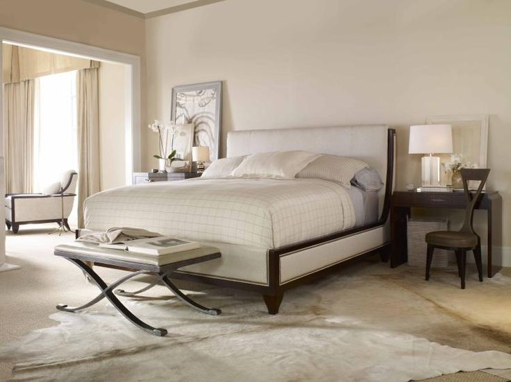 This Luxurious, Architectural Upholstered Century Thomas Ou0027Brien Kelly Bed  With Wood Details Was · Wood DetailWest CoastInfiniteMaster Bedroom