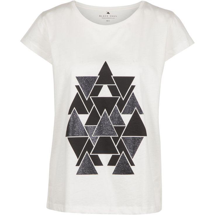 Glady tee #soft #cotton #tshirt #cool #glitter #frontprint #eye #catching #white