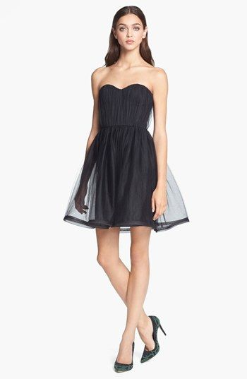 Alice + Olivia 'Landi' Strapless Dress available at #Nordstrom