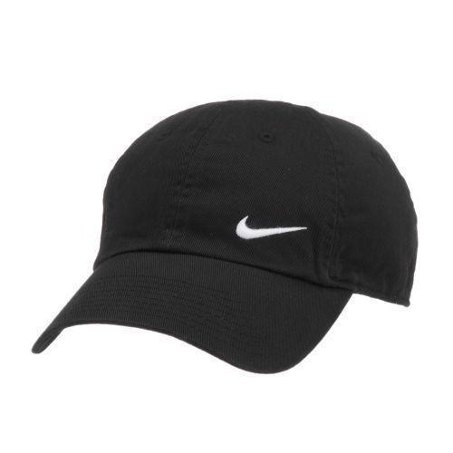 Nike Heritage 86 Swoosh Cap  Hate Black With White Logo ~Brand ~